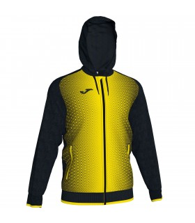 Joma Hooded Jacket Supernova Black-Yellow