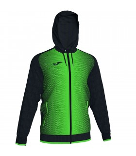 Joma Hooded Jacket Supernova Black-FluoGreen