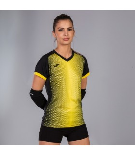 Joma Ladies Shirt Supernova Black-Yellow