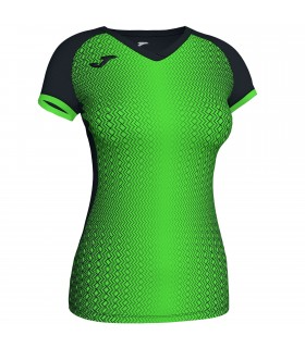 Joma Ladies Shirt Supernova Black-FluoGreen