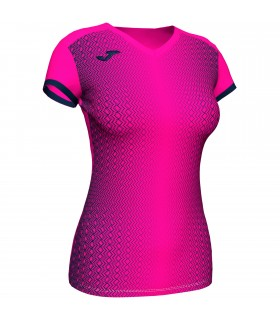 Joma Ladies Shirt Supernova Pink-Navy