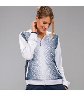 Joma Ladies Hooded Jacket Supernova White-Navy