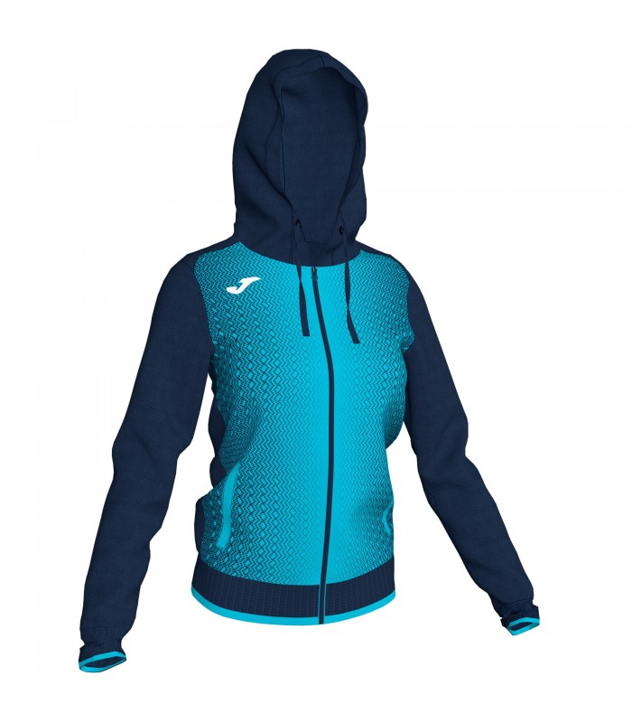 Joma Ladies Hooded Jacket Supernova Navy-Turquoise