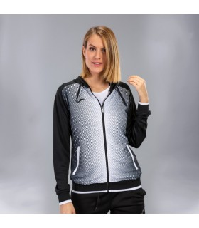 Joma Ladies Hooded Jacket Supernova Black-White