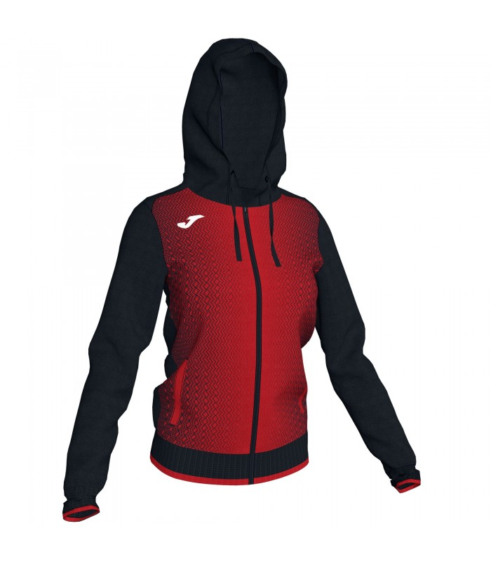 Joma Ladies Hooded Jacket Supernova Black-Red