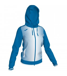 Joma Ladies Hooded Jacket Supernova Royal-White