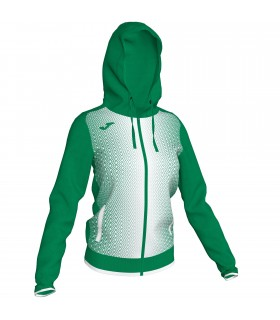 Joma Ladies Hooded Jacket Supernova Green-White