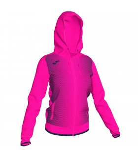 Joma Ladies Hooded Jacket Supernova Pink-Navy