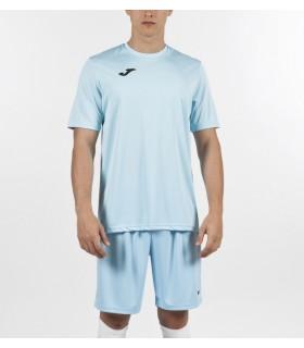 Joma T-Shirt Combi MC Bleu Ciel