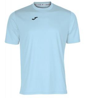 Joma T-Shirt Combi KM Blauw Sky