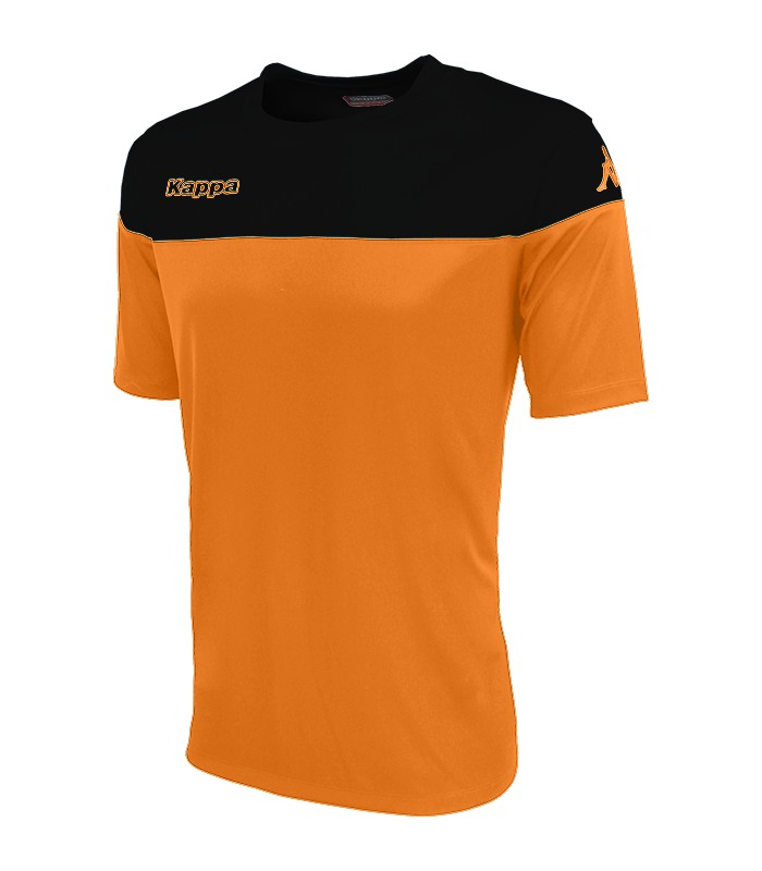 SHIRT KAPPA MARETO ORANGE - ZWART