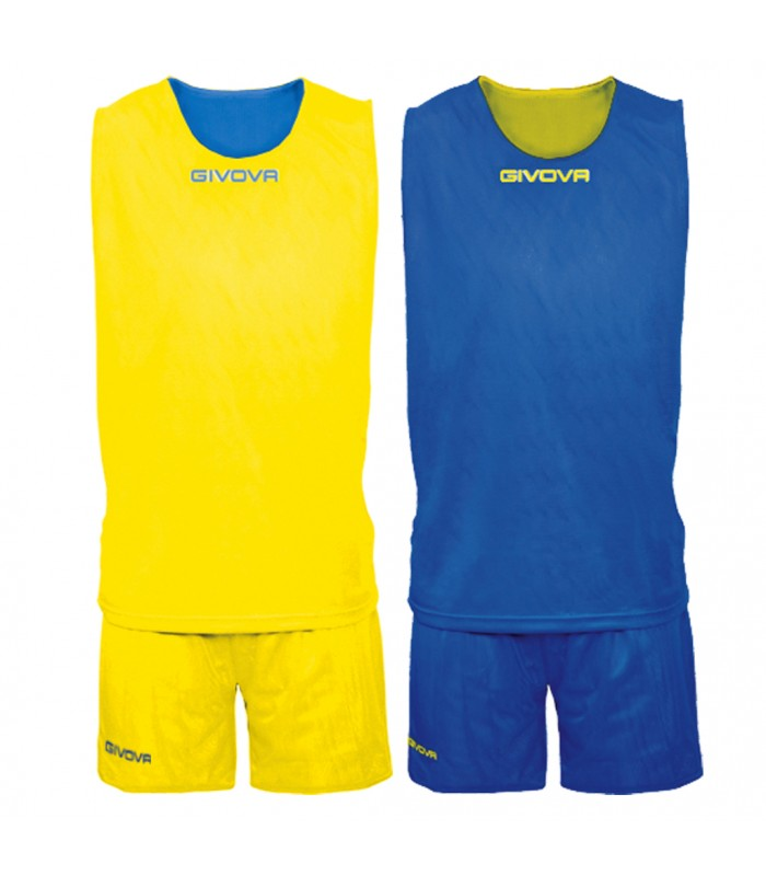 Kit Basket Givova Double Navy Blanc