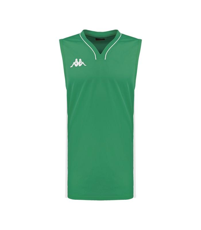 Kappa Maillot Basket Cairo Vert / Blanc