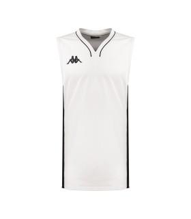 Kappa Maillot Basket Cairo Blanc / Noir
