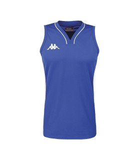 Kappa Maillot Basket Caira Dame Bleu Nautic / Blanc