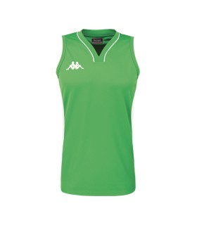Kappa Maillot Basket Caira Dame Vert / Blanc