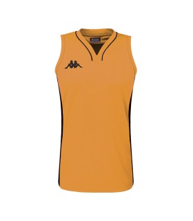 Kappa Maillot Basket Caira Dame Orange / Noir