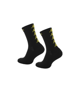 Socks Basket Kappa Eleno x3 Pairs Black/Yellow