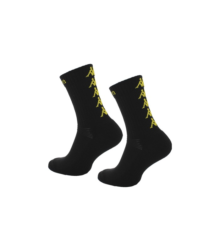 Socks Basket Kappa Eleno x3 Pairs Black/Yellow