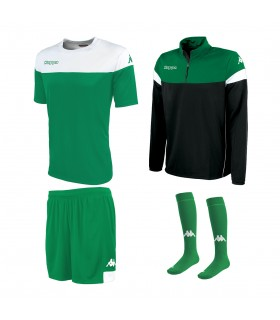 Pack Kappa Mareto Green-White-Black