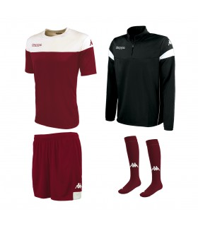 Pack Kappa Mareto Burgundy-White-Black