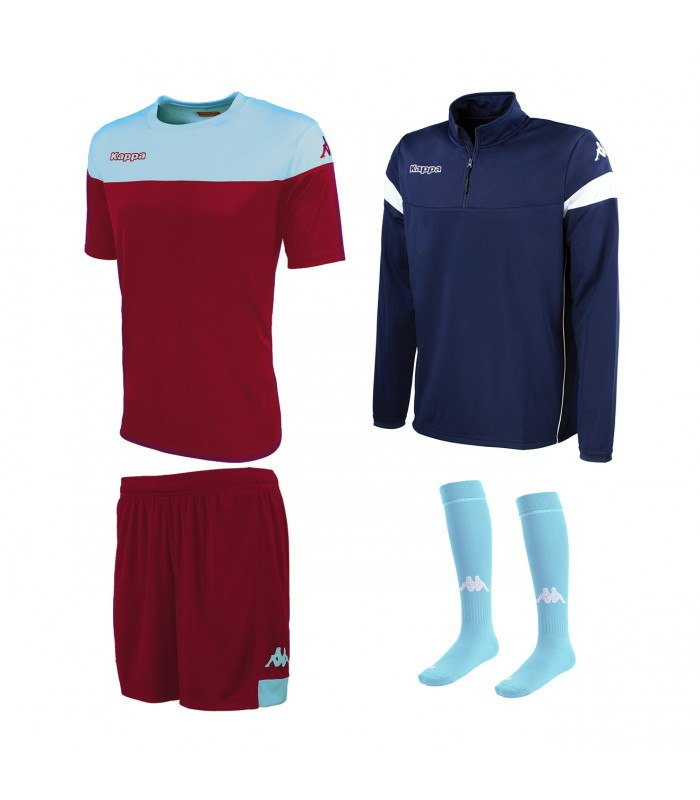 Pack Kappa Mareto Bordeaux-Sky-Navy