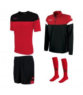 Pack Kappa Mareto Rood-Zwart