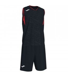 Kit Joma Campus Set Black-Red