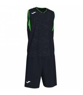 Kit Joma Campus Set Black-FluoGreen