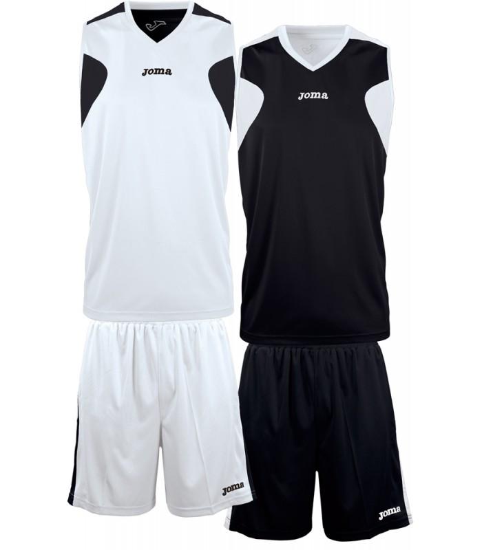 10x Kit Joma Reversible Set White-Black