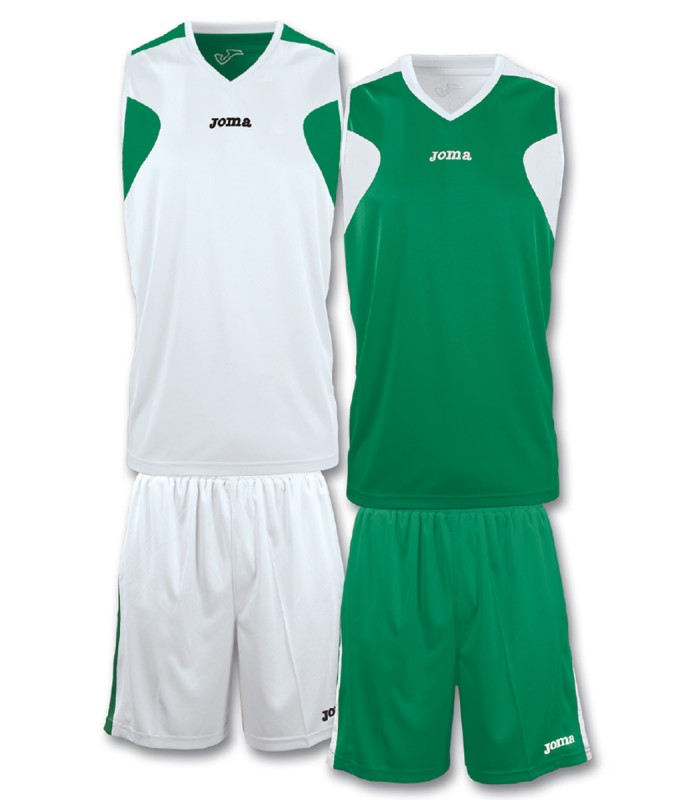 10x Kit Joma Reversible Set White-Green