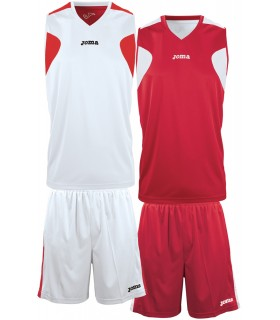 10x Kit Joma Reversible Set Wit-Rood