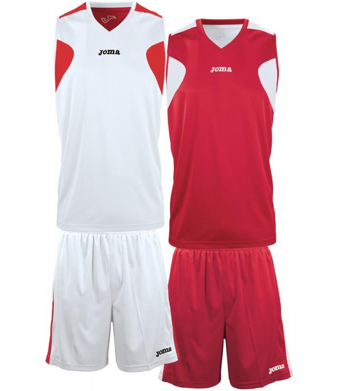 10x Kit Joma Reversible Set White-Red