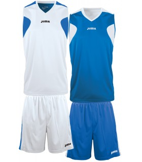 10x Kit Joma Reversible Set Wit-Royal