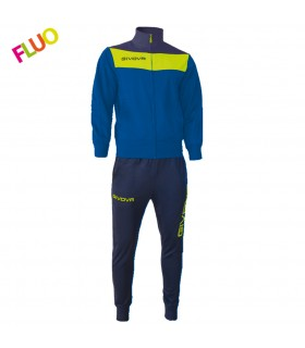 Tracksuit Tuta Campo Royal blue - fluo yellow