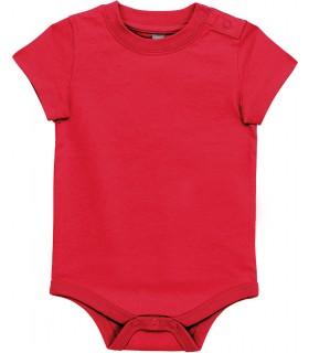 Babies' short-sleeved bodysuit red
