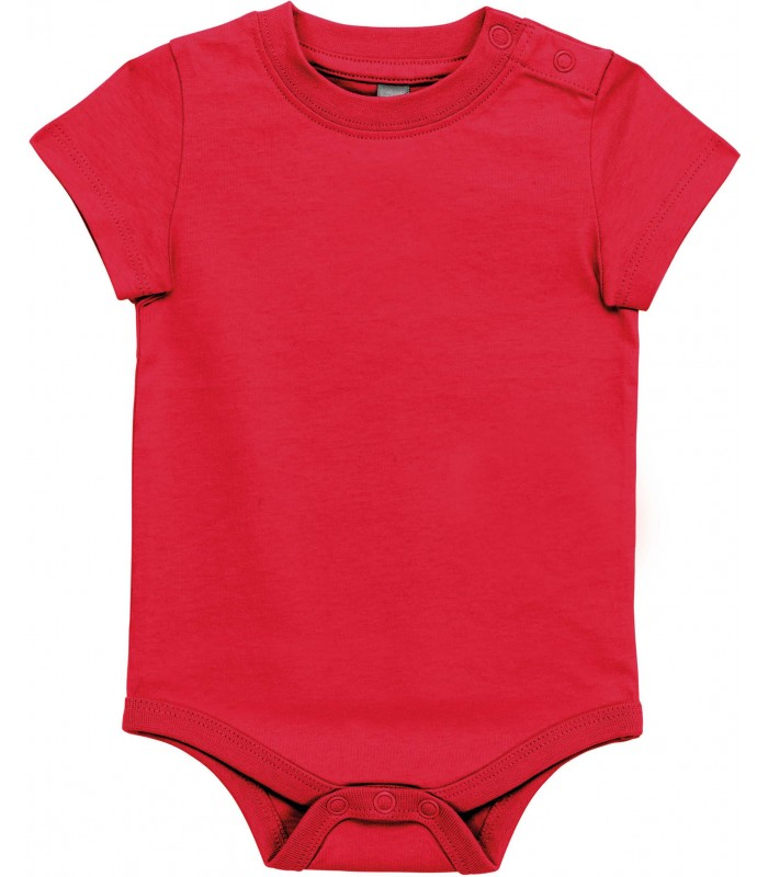 Babies' short-sleeved bodysuit red