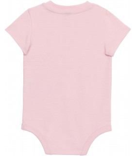Babies' short-sleeved bodysuit pink