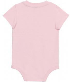 Babies' short-sleeved bodysuit pink