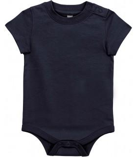 Babies' short-sleeved bodysuit navy