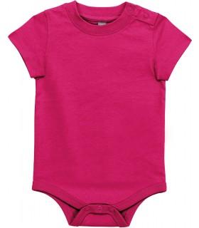 Babies' short-sleeved bodysuit Fuchsia
