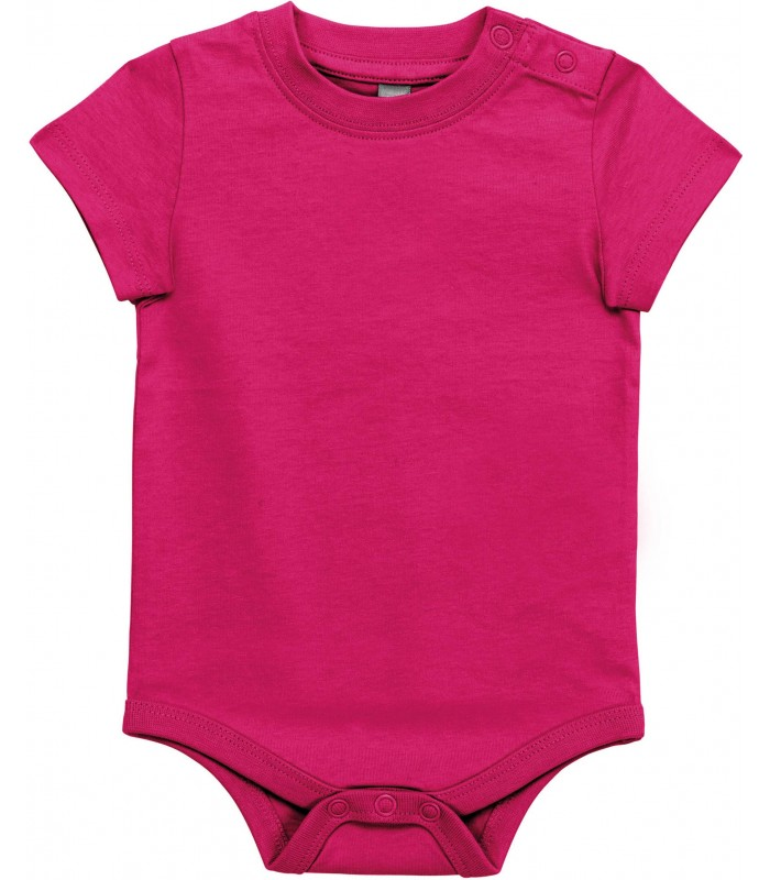 Babies' short-sleeved bodysuit Fuchsia