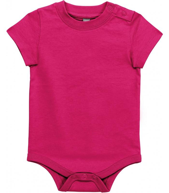 Body manches courtes bébé fushia