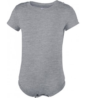 Babies' short-sleeved bodysuit grey