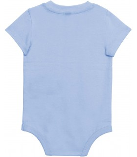 Babies' short-sleeved bodysuit sky blue