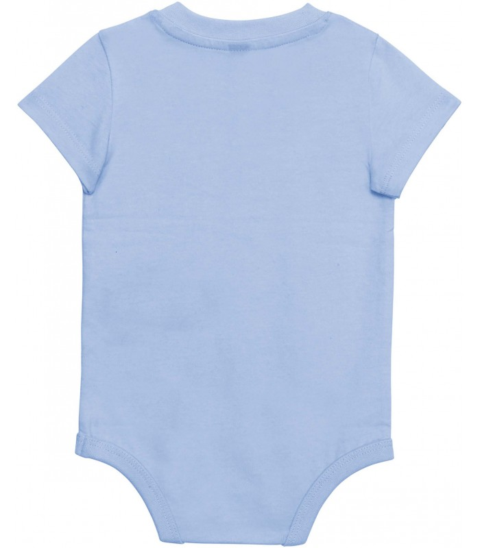 Babies' short-sleeved bodysuit sky blue