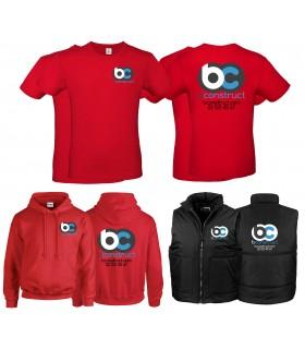 Pack vêtement de travail 1 rouge - noir