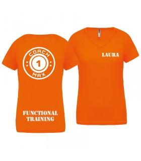 T-shirt femme coach1max orange FT