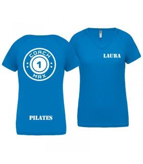 T-shirt dame coach1max aquablue FT