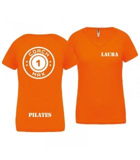 T-shirt femme coach1max noir Pilates